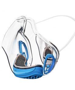 masque transparent anti covid wesmilee bleu