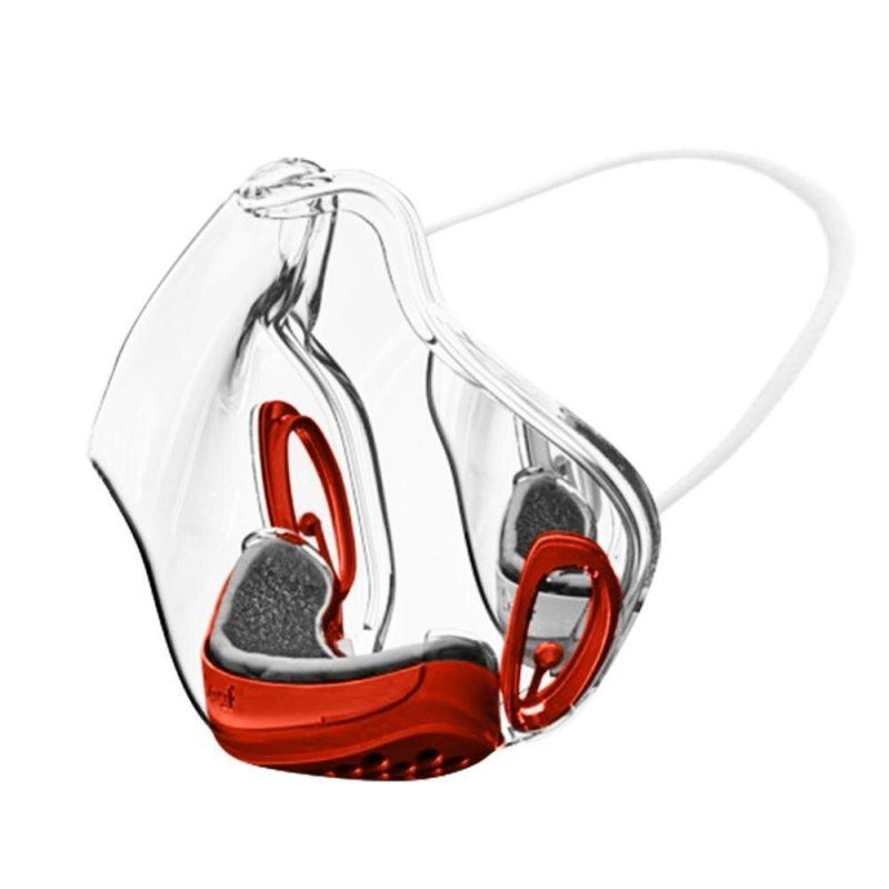 masque transparent anti covid wesmilee rouge