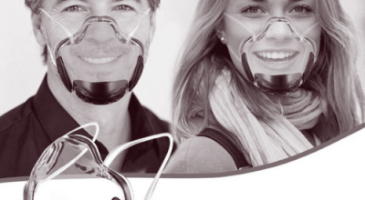 homme et femme portant des masques transparents noirs wesmilee